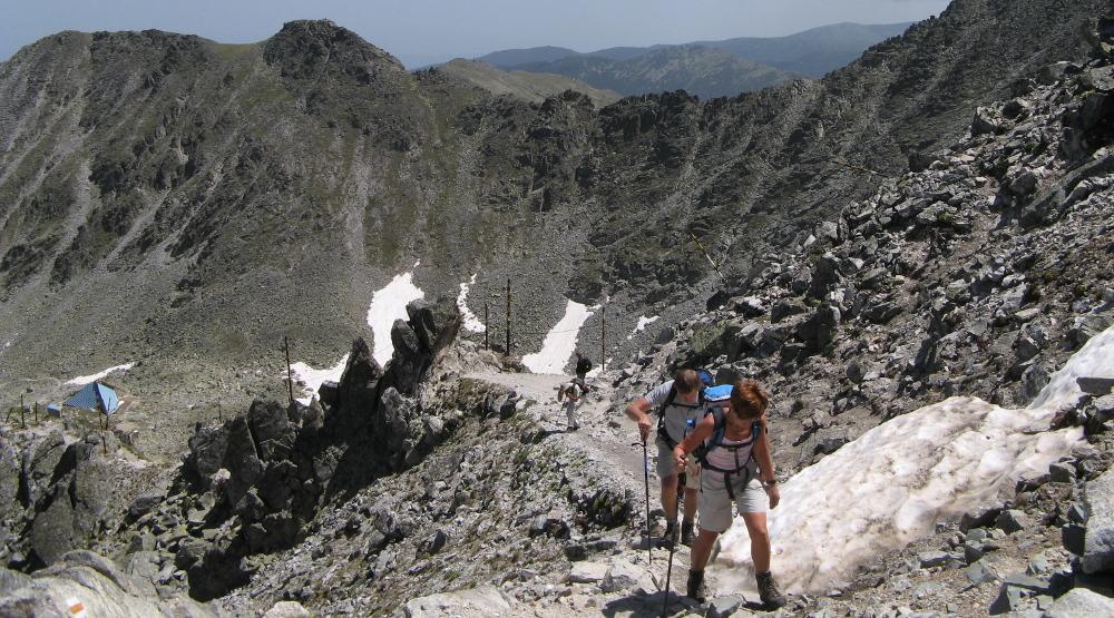 Climbing mount Musala