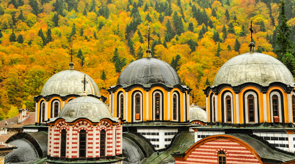 Rila Monastery church domes