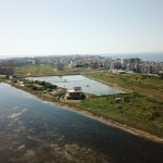 The town of Pomorie and Pomorie Lake