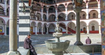The fountain in the Rila Monastery yard