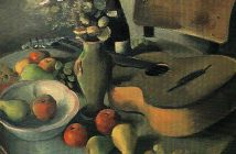 Still Life With a Guitar by Nenko Balkanski 1940-42; Culture
