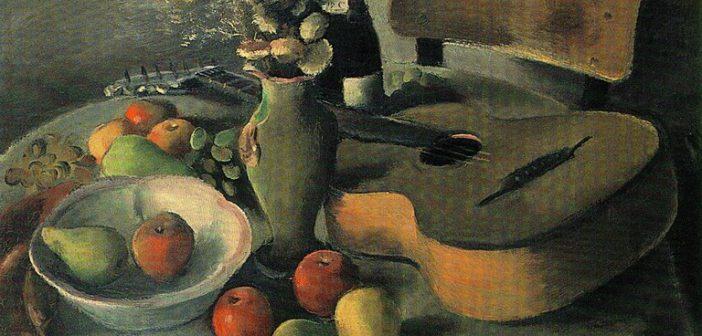 Still Life With a Guitar by Nenko Balkanski 1940-42; Culture