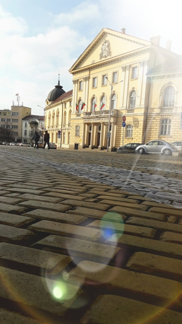 Sofia is famous for the yellow cobblestones